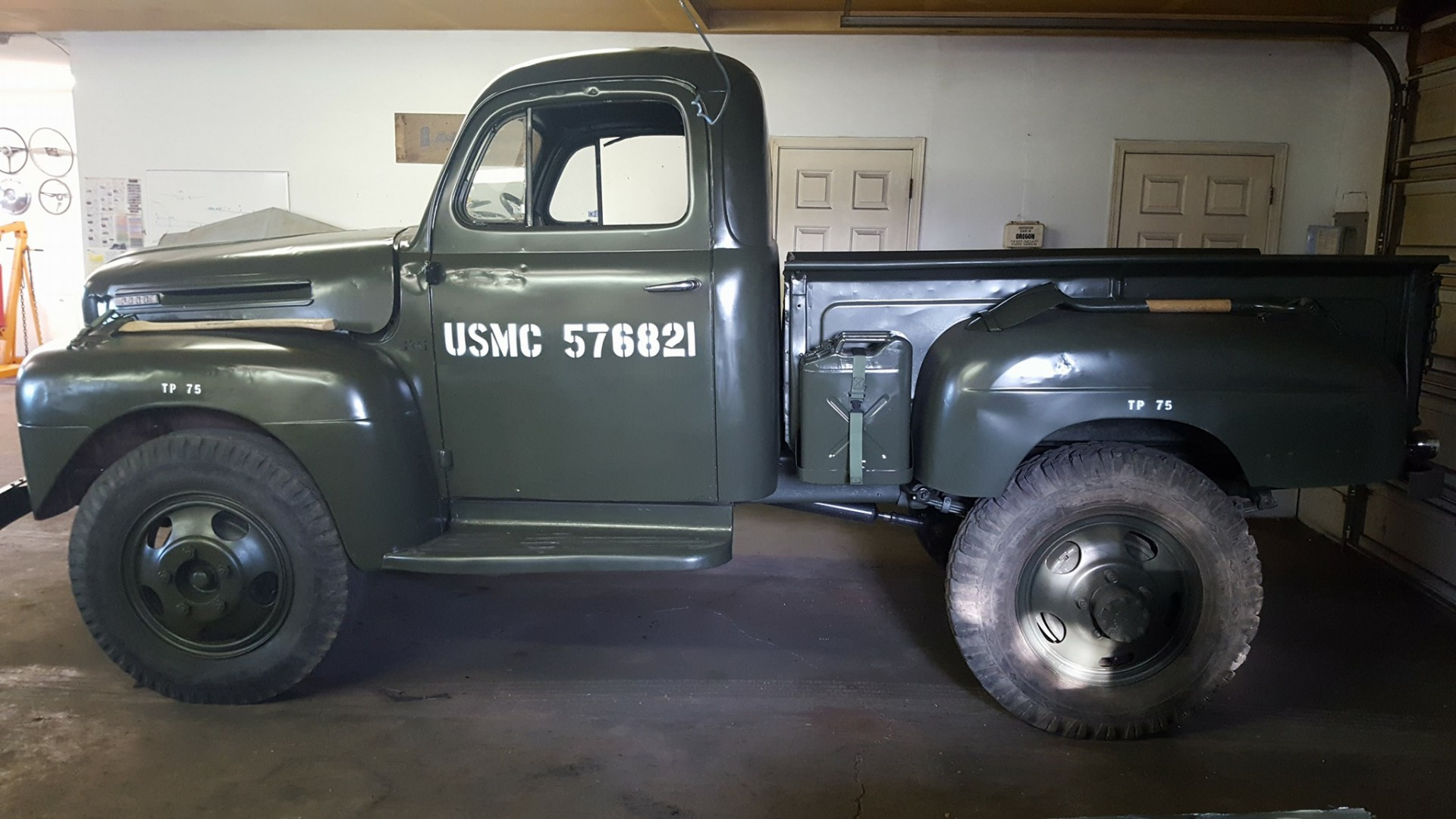 1948 Ford F5 pickup truck USMC style Speed Monkey Cars
