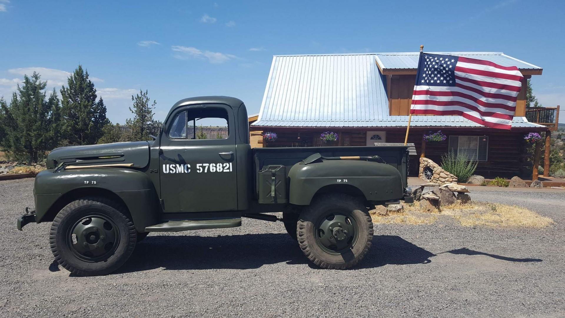 1948 ford f5 pickup truck usmc style
