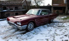 1965 Ford Thunderbird Hardtop - Burgundy new (14)