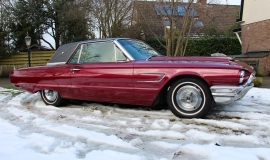 1965 Ford Thunderbird Hardtop - Burgundy new (17)