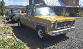 1973 Chevrolet C20 Cheyenne - 454ci - yellow (9)