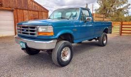 1994-single-rear-tire-Ford-F350-XL-OBS-4x4-460ci-V8-1