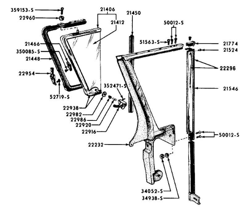 Ford Thunderbird Vent Window on 1966 ford thunderbird power window wiring diagram