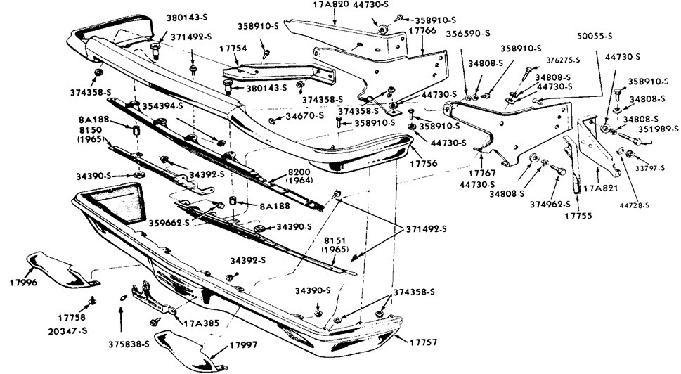 1966 mustang front bumper diagram   33 wiring diagram images